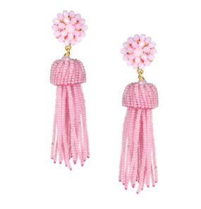 Tassel Earrings | Cotton Candy