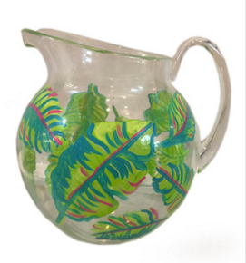 Banana Leaf Hand Painted Acrylic Pitcher