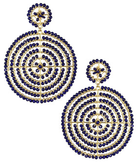 Disk Earrings | Navy