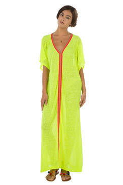 Pitusa Inca Abaya Dress | Lemon