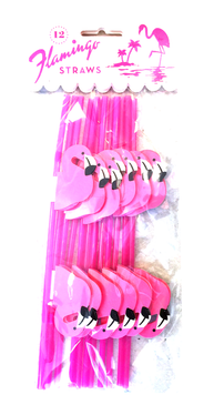 Flamingo Straws | Set of 12