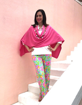 Barbara Gerwit 100% Cotton Palazzo Pant | Fruits & Flowers