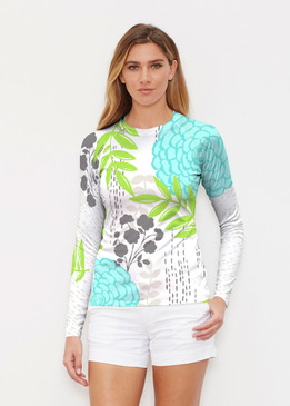 Before & Again | Long Sleeve Active Top | Hula White