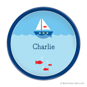 Sailboat Children's Plate