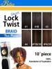 "10"" Biba Short Lock Twist Braid 2 Pieces Synthetic HAIR"