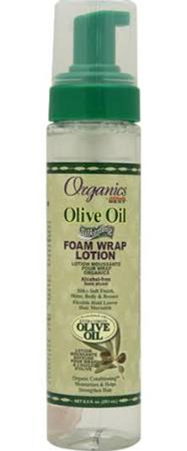 Africa's Best Organics Olive Oil Silkening Foam Wrap Lotion 8.5oz