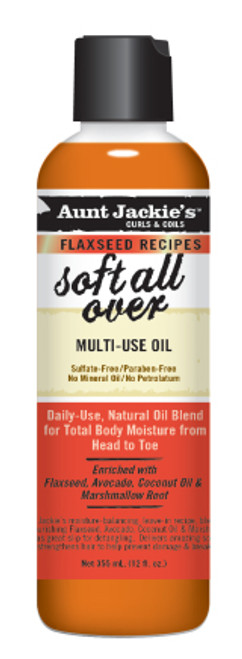 Aunt Jackie's Curls & Coils Soft All Over Multi-Purpose Oil With Flaxseed 8oz