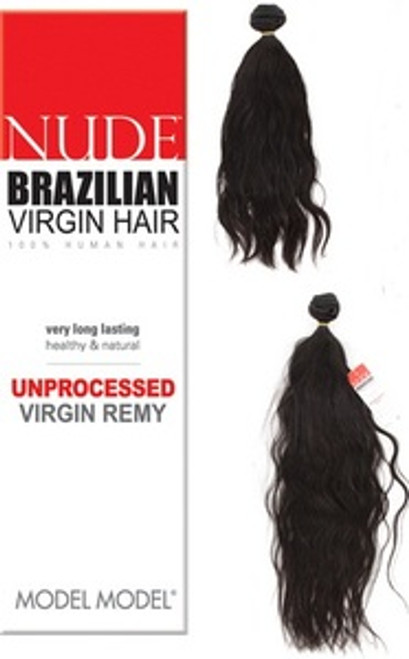 "Model Model Nude 100% Unprocessed Brazilian Virgin Remy Hair Weaving- 22"" Natural Black"