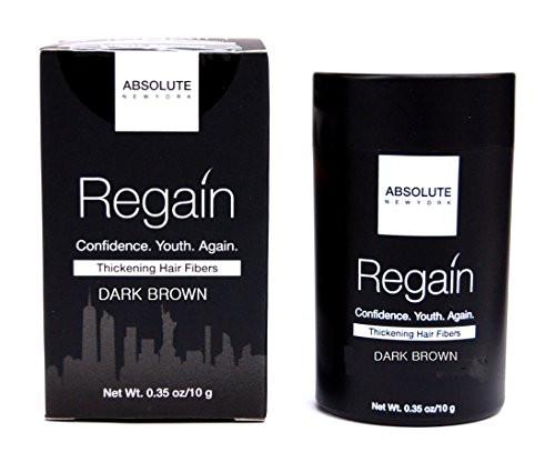 Absolute New York Regain Thickening Hair Fibers DARK BROWN- 23g