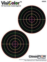 """Champion VisiColor 5"""" Double Bulls Targets - 10 Pack - 076683458261"""