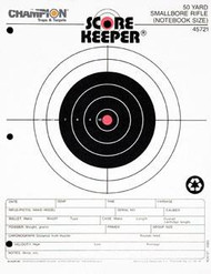 Champion Scorekeeper 50 Yard Small Bore Notebook Targets - Orange Bull - 12 Pack - 076683457219