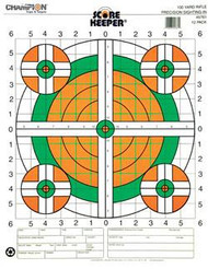 Champion Scorekeeper 100 Yard Rifle Sight-In Targets - Green / Orange Bull - 12 Pack - 076683457615