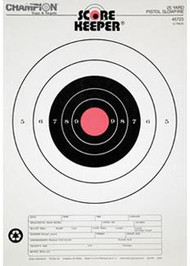 Champion Scorekeeper 25 Yard Pistol Slowfire Targets - Orange Bull - 12 Pack - 076683457233