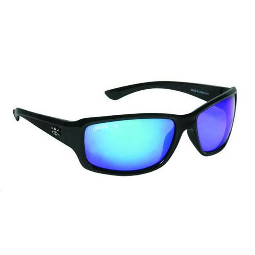 Calcutta Outrigger Sunglasses - Black Frame / Blue Mirror Lenses - 768721520480