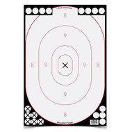 "Birchwood Casey Shoot-N-C 12"" x 18"" White / Black Silhouette Targets - 029057346152"