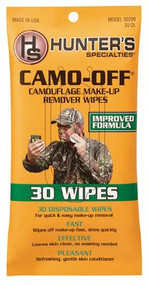 Hunter Specialties Camo-Off Make-Up Remover Pads 30 Wipes - 021291002993