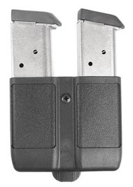 BLACKHAWK! Double Mag Case for Single Stack Magazines 9mm/.40/.45/10mm/.357 Sig Matte Finish Black - 648018127267