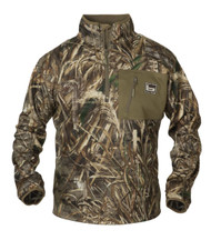 Banded Mid Layer 1/4 Zip Fleece Pullover - Realtree MAX-5 - 848222004433