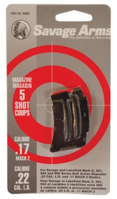 Savage Magazine for Mark II & 900 .22 Long Rifle / .17 Mach2 5 Round Blue - 062654900051