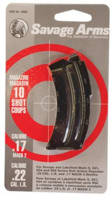 Savage Magazine for Mark II Rifle .22 Long Rifle/.17 Mach2 10 Round Stainless Steel - 062654900082