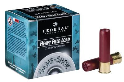 Federal Hi-Brass Heavy Field Load Game Shok - 25 Rounds - 604544617337