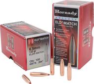 Hornady ELD Match Bullets 6.5mm .264 123 GR 100 Box - 090255261769