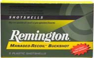 """Remington Managed-Recoil Buckshot 12 Gauge - 00 Buckshot - 2-3/4"""" - 5 Rounds - 047700336503"""