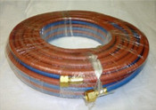 Twin Hose Set, Acetylene, 20 Metres x 5mm