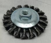 Lessmann Conical (Bevel) Brush, Twist Knot, 100mm, M14