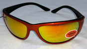 Elvex Safety Sunglasses Copper frame/Orange mirror