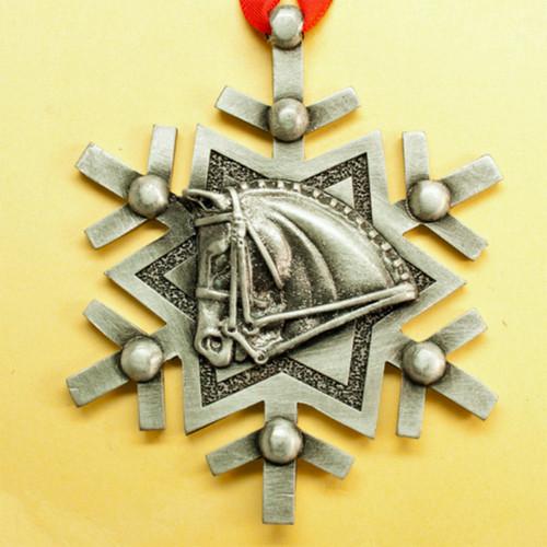Linear Snowflake Dressage Ornament