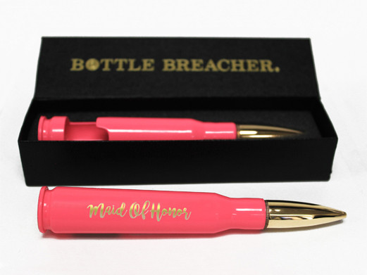 Bridesmaid Gifts 50 Caliber Bottle Opener in Pink