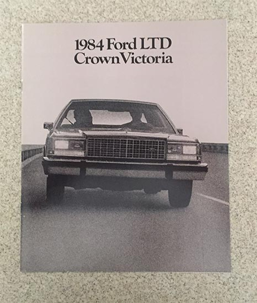 1984 Ford LTD Crown Victoria Original Dealer Brochure