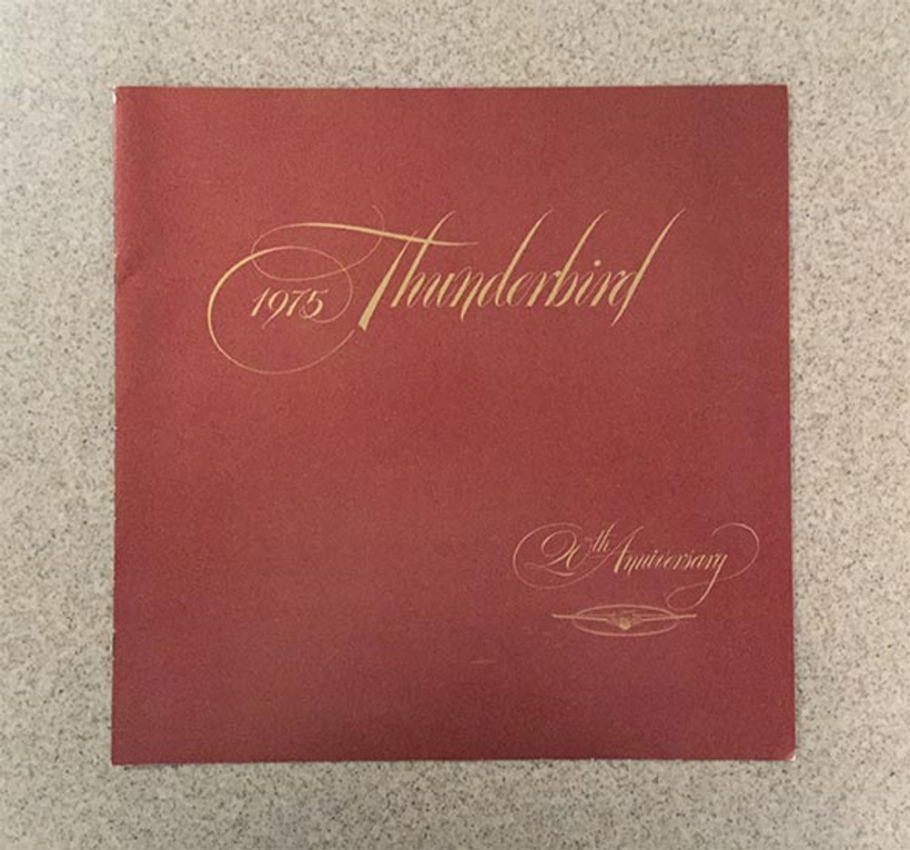 1975 Ford Thunderbird 20th Anniversary Original Brochure