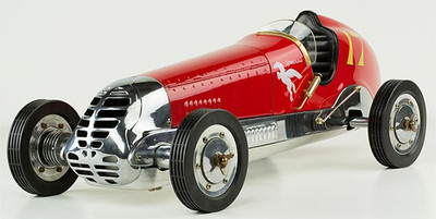 Authentic Models 1930s BB Korn Tether Car in Red