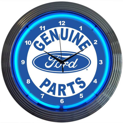 Neonetics Ford Genuine Parts Neon Clock