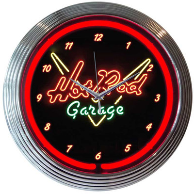 Neonetics Hot Rod Garage Neon Clock