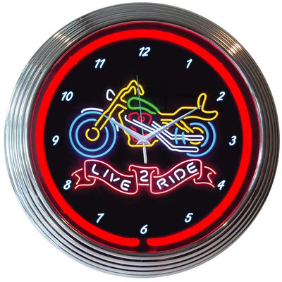 Neonetics Live 2 Ride Motorcycle Neon Clock