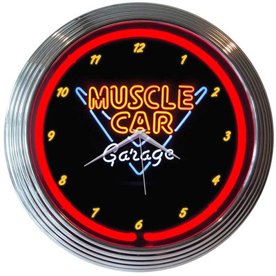 Neonetics Muscle Car Garage Neon Clock