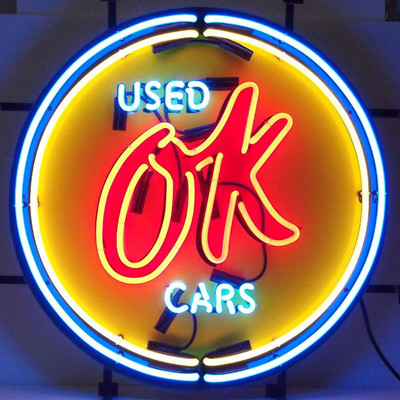 Neonetics Chevy Vintage OK Used Cars Neon Sign