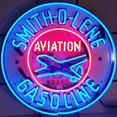 Neonetics Smith-O-Lene Aviation Gasoline Neon Sign