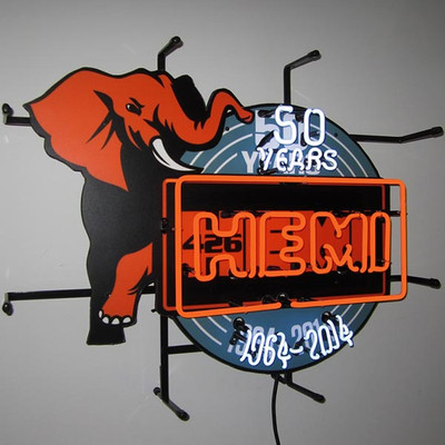 Neonetics Hemi 50th Anniversary Neon Sign Silkscreen Backing