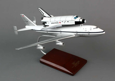 NASA B747 with Atlantis Space Shuttle Model