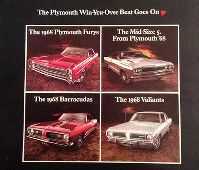 1968 Plymouth Dealer Full Line 32 page Catalog Brochure