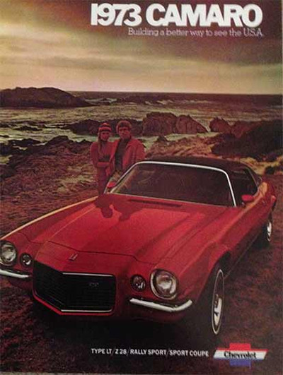 1973 Chevrolet Camaro Dealer Sales Brochure