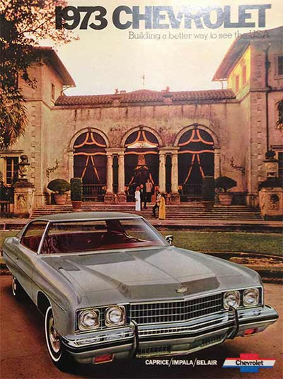 1973 Chevrolet Caprice Impala Bel Air Dealer Brochure