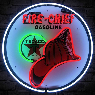 Neonetics Texaco Fire Chief Neon Sign