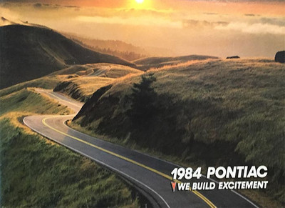 1984 Pontiac We Build Excitement Dealer Brochure