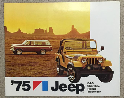 1975 Jeep CJ-5, Cherokee, Pickup, Wagoneer Dealer Catalog