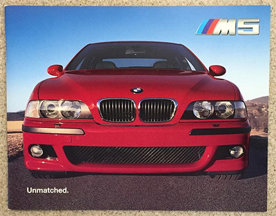 2000 BMW M5 20-Page Dealer Color Brochure